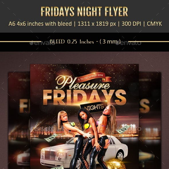 Fridays Nights Flyer