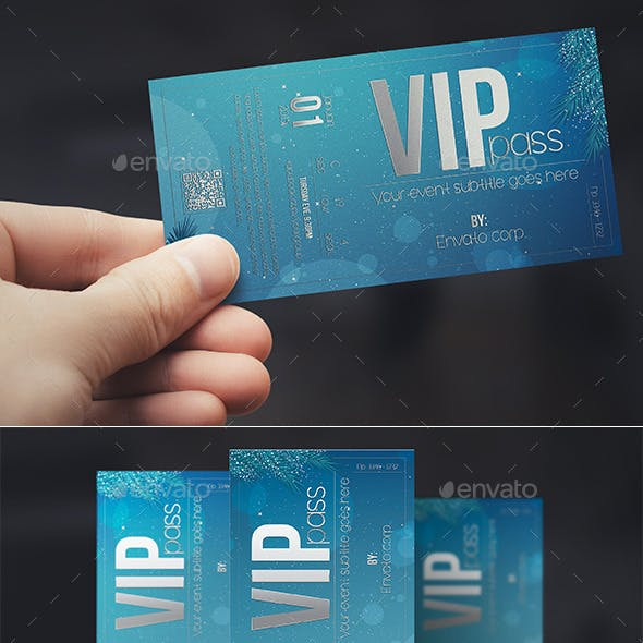Christmas style VIP PASS