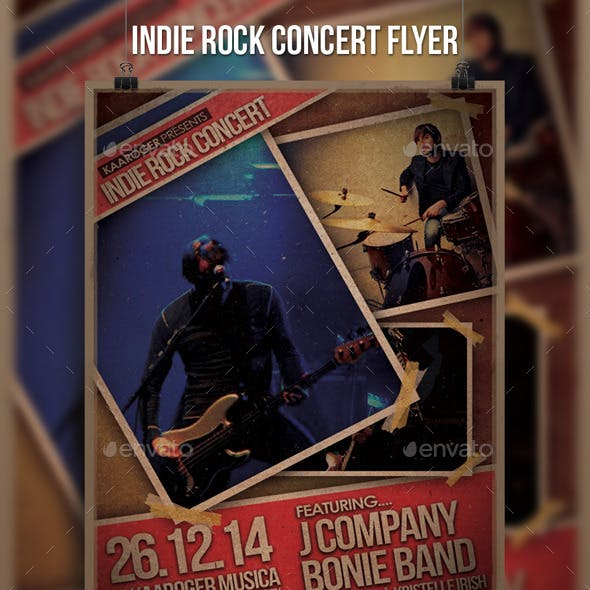 Indie Rock Concert Flyer