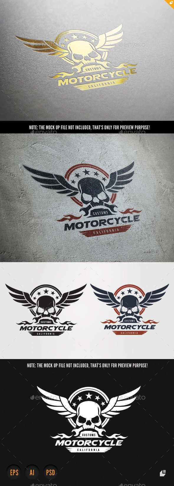 Motorcycle - Crests Logo Templates