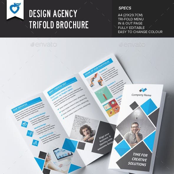 Design Agency Trifold Brochure