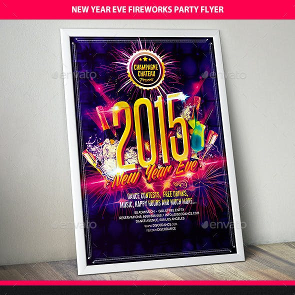 New Year Eve Celebration Party Flyer