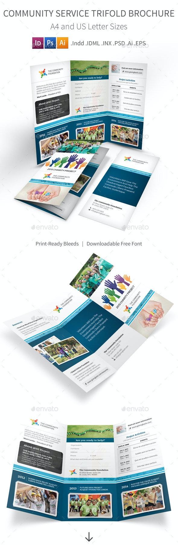 Community Service Trifold Brochure - Informational Brochures