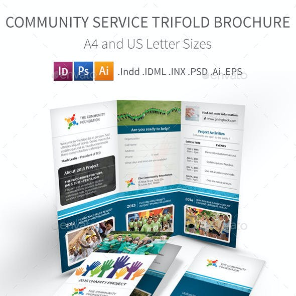 Community Service Trifold Brochure