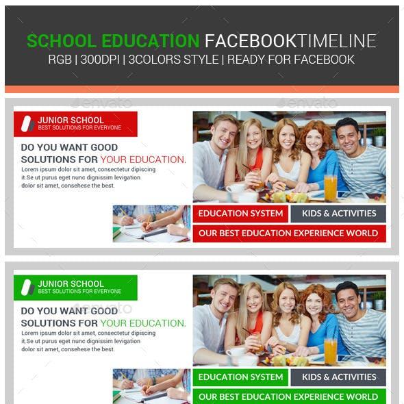School Education Facebook Timeline Cover
