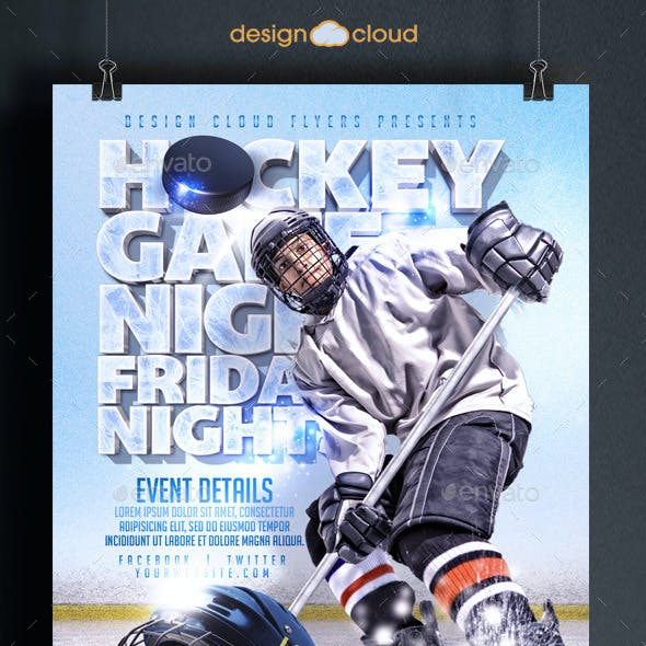 Hockey Game Night Flyer Template