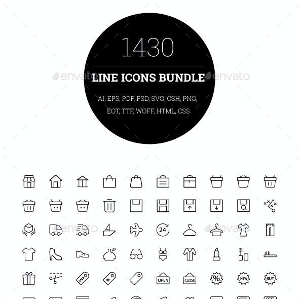 1430 Line Icons Bundle