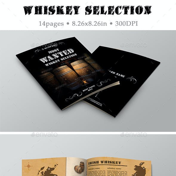 Brand Whiskey Album Template 02