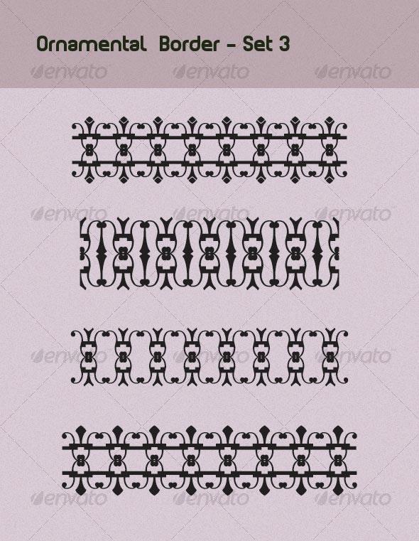 Ornamental Borders Set 3 - Decorative Vectors