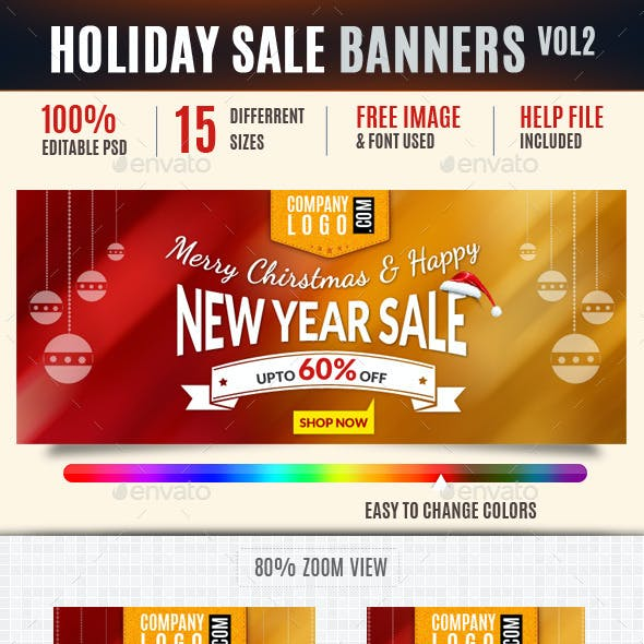 Holiday Web Ad Banners Vol2
