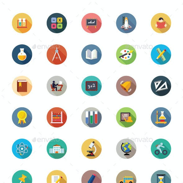 175 Education Vector Icons