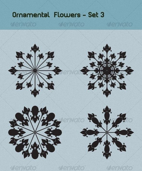 Ornamental Flowers Set 3 - Decorative Vectors