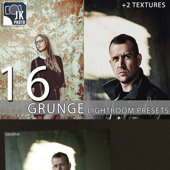 16 Grunge Lightroom Presets