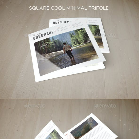 Square Cool Minimal Trifold