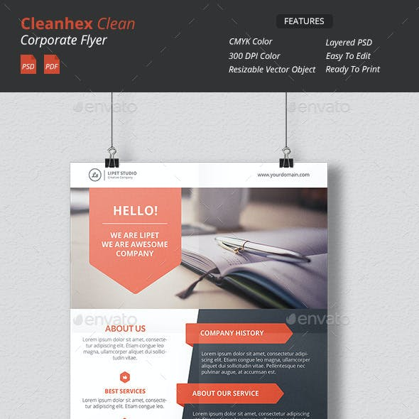 Cleanhex - Clean Corporate Flyer v3