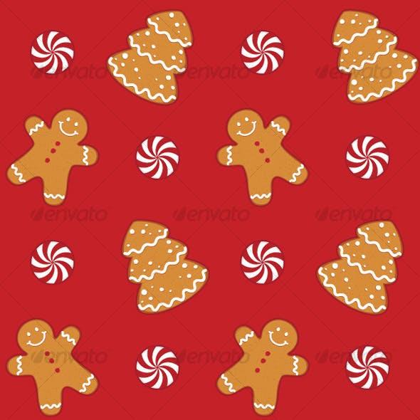 Gingerbread Cookies Seamless Pattern