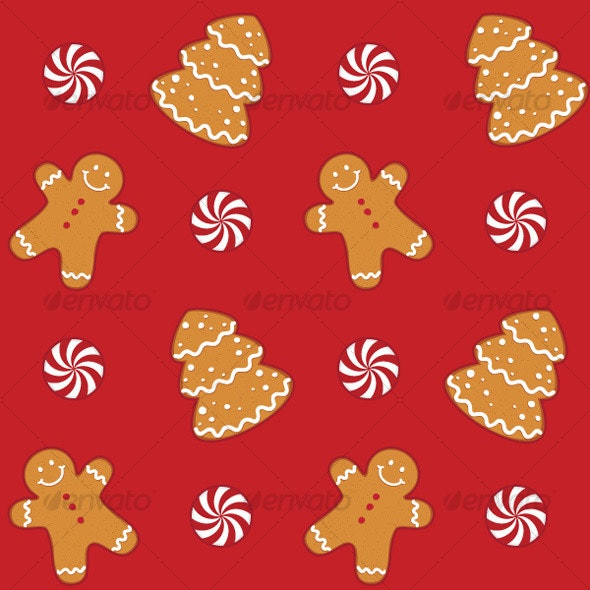Gingerbread Cookies Seamless Pattern - Patterns Decorative