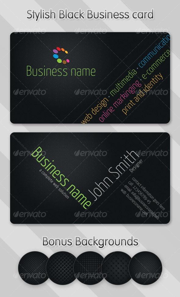 Stylish Black Business Card - Creative Business Cards