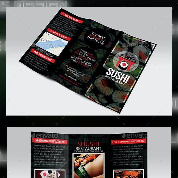 Sushi Menu Tri-fold Brochure