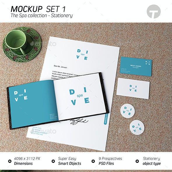 Stationery Mockup (Spa Collection) - Set 1