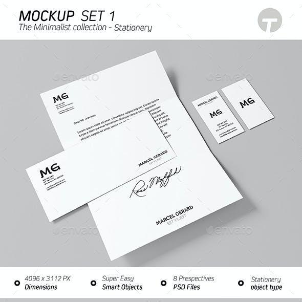 Stationery Mockup (minimalist Collection) - Set 1