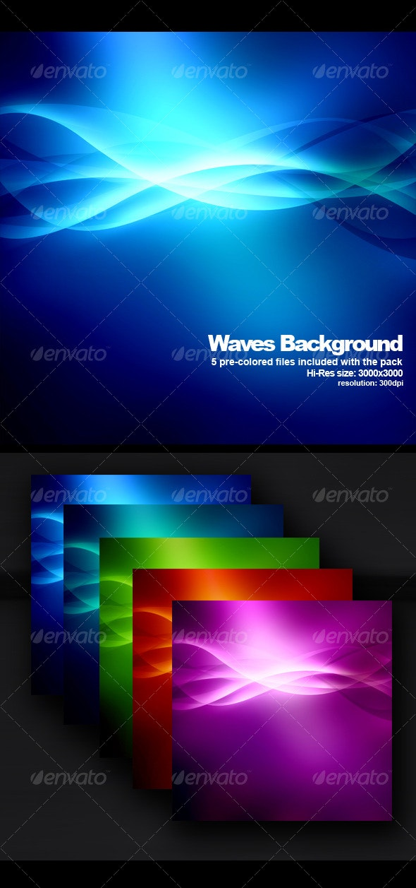 Hi-Res Wave background - Abstract Backgrounds