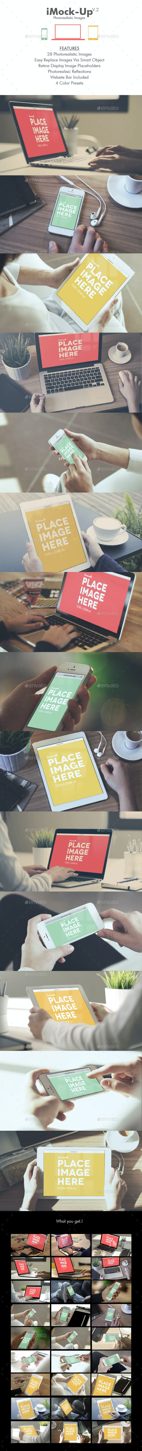iMock-Up Photorealistic Images - Displays Product Mock-Ups