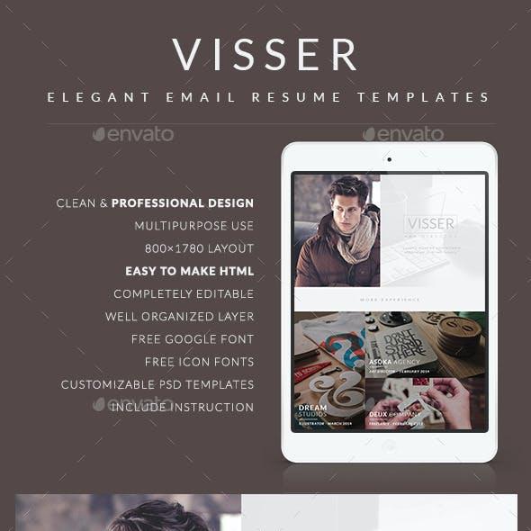 CV Email Template - Visser