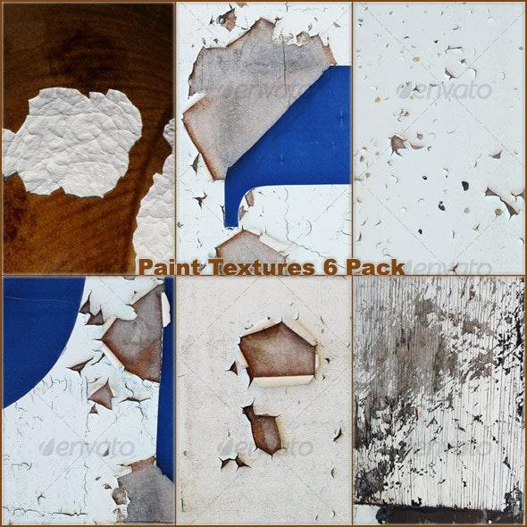 Rough Paint Textures - 6 Pack - Metal Textures