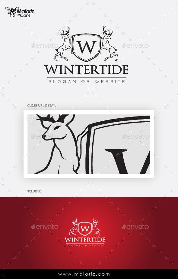 Winter Crest Logo Template