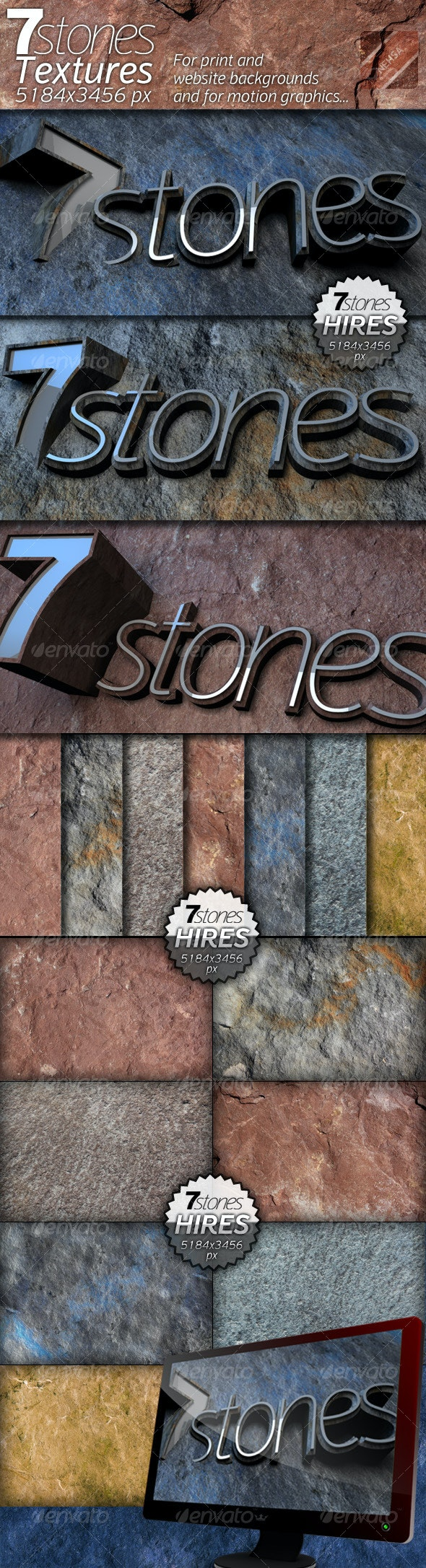 7stones - Texture package - Stone Textures