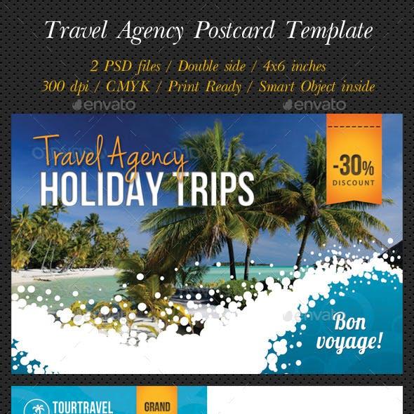 Travel Agency Postcard Template