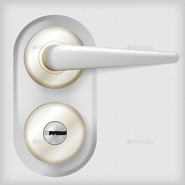 Vector Illustration of Door Handle - Man-made Objects Objects