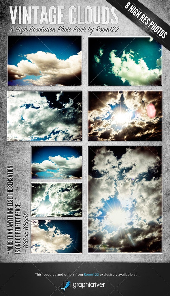 Vintage Clouds - Backgrounds Graphics