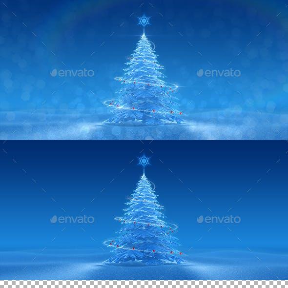 Festive Ice Tree
