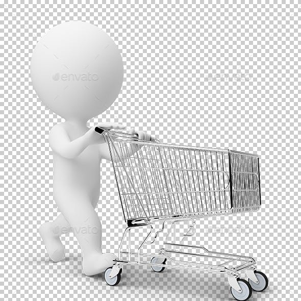 3D Small People - Cart