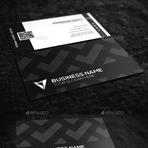 Black & White Corporate Business Card No.01