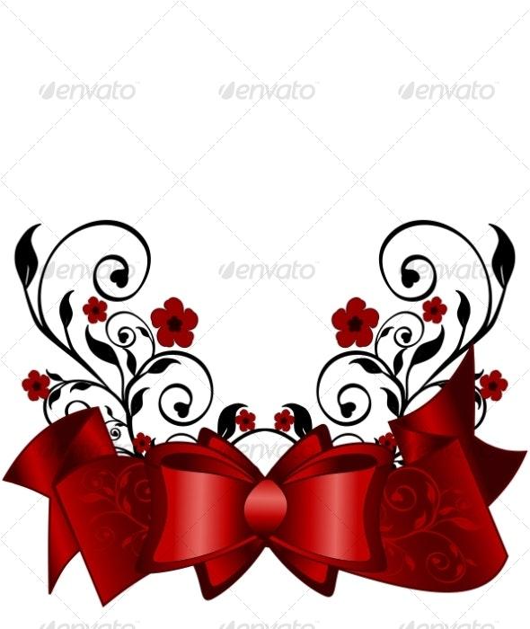 Holiday Background - Flourishes / Swirls Decorative