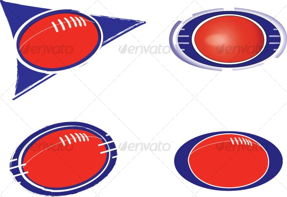 football and sports icons - Decorative Vectors