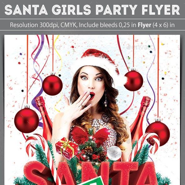Santa Girls Party Flyer