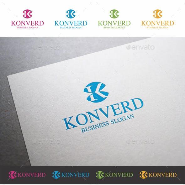 K Letter Logo Template - Konverd