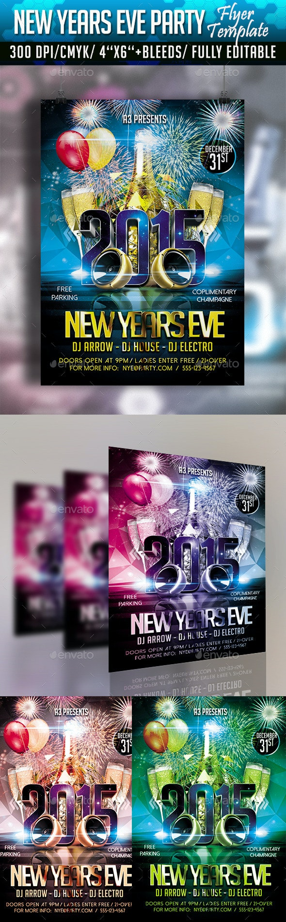 New Year's Eve Flyer Template - Clubs & Parties Events