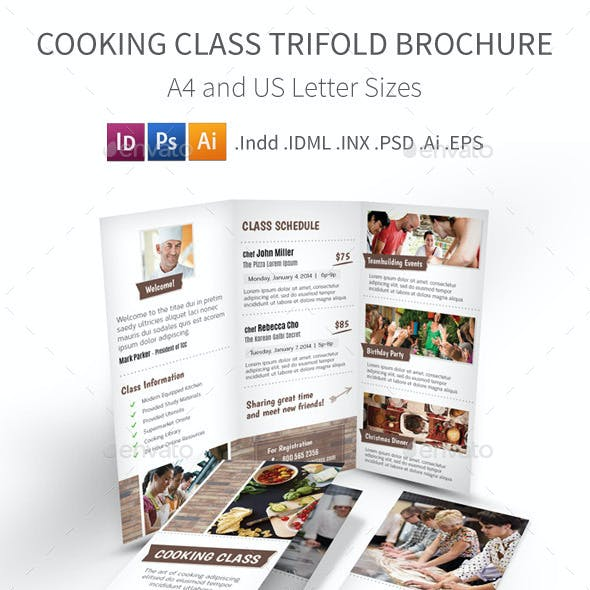 Cooking Class / School Trifold Brochure
