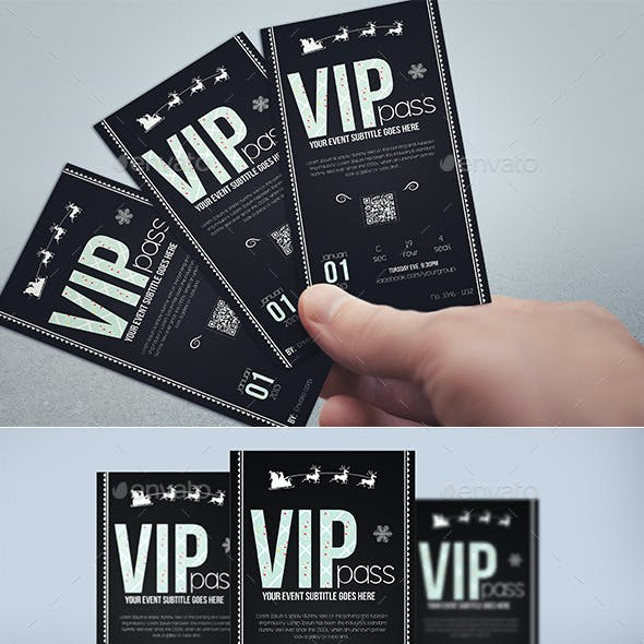 Elegant christmas vip pass card