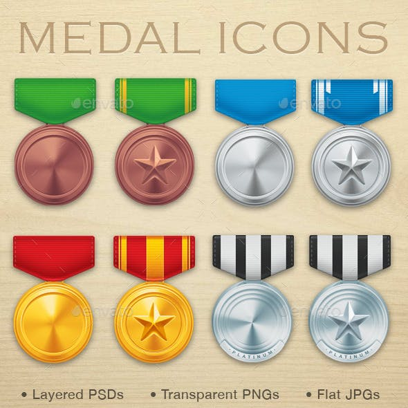 Military Medal Icons