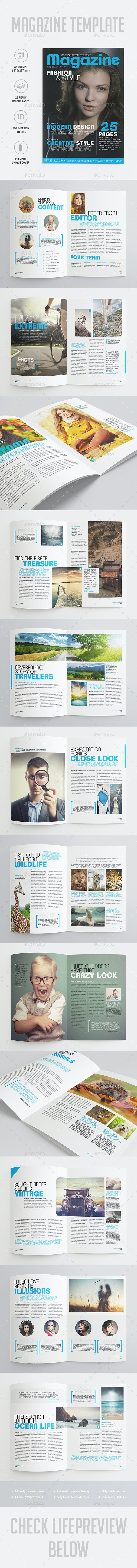 25 Pages Universal Magazine Vol74 - Magazines Print Templates