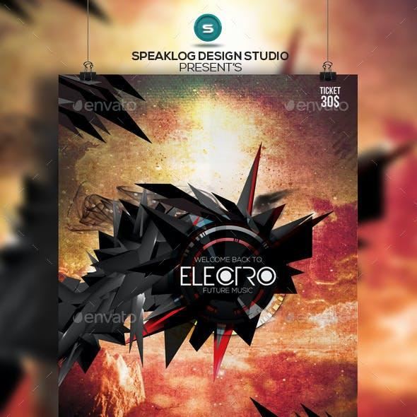 2015 Electro Futuristic Flyer Design