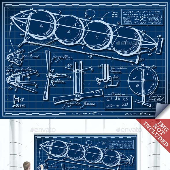 Vintage Kids Plane Project on Blueprint