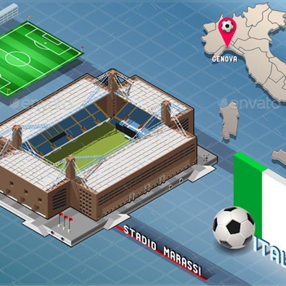 Isometric Stadium, Marassi, Genova, Italy