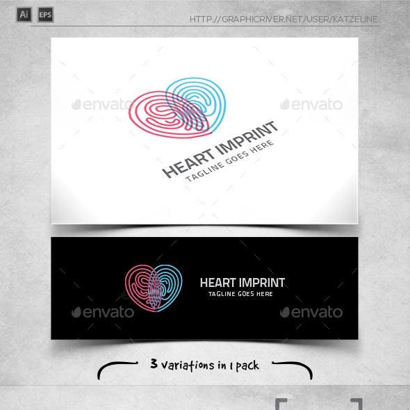 Heart Imprint - Love Fingerprint - Logo Template